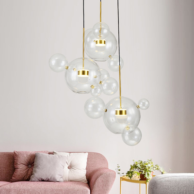 Art Creative Soap Bubble Clear Glass Ball LED Pendant Light Livingroom Bedroom Dining Room Designer Light Fixtures Free ShippingArt Creative Soap Bubble Clear Glass Ball LED Pendant Light Livingroom Bedroom Dining Room Designer Light Fixtures Free Shipping
