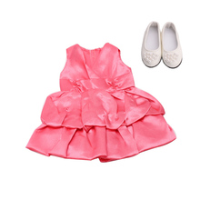 18 inch Girls doll dress bikini evening gown swimming cap with shoes American born clothes Baby toys fit 43 cm baby dolls c137