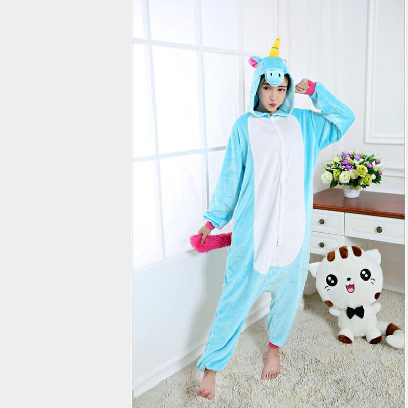 Hot Sale Women's Horse Pattern Footed Pyjamas For Adults Full Sleeve Polyester Sleep Lounge Onesies Animal Pajamas One Piece