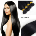 Full Shine Stick Tip Human Hair Extensions Color 1B Off Black I Tip 100 Real Human Hair 0.5 g Per Stand 50 Stands Per Package