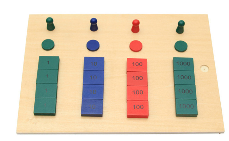 New Wooden Baby Toy International  Montessori Maths Teaching Aids Stamps Game Early Educational Toy