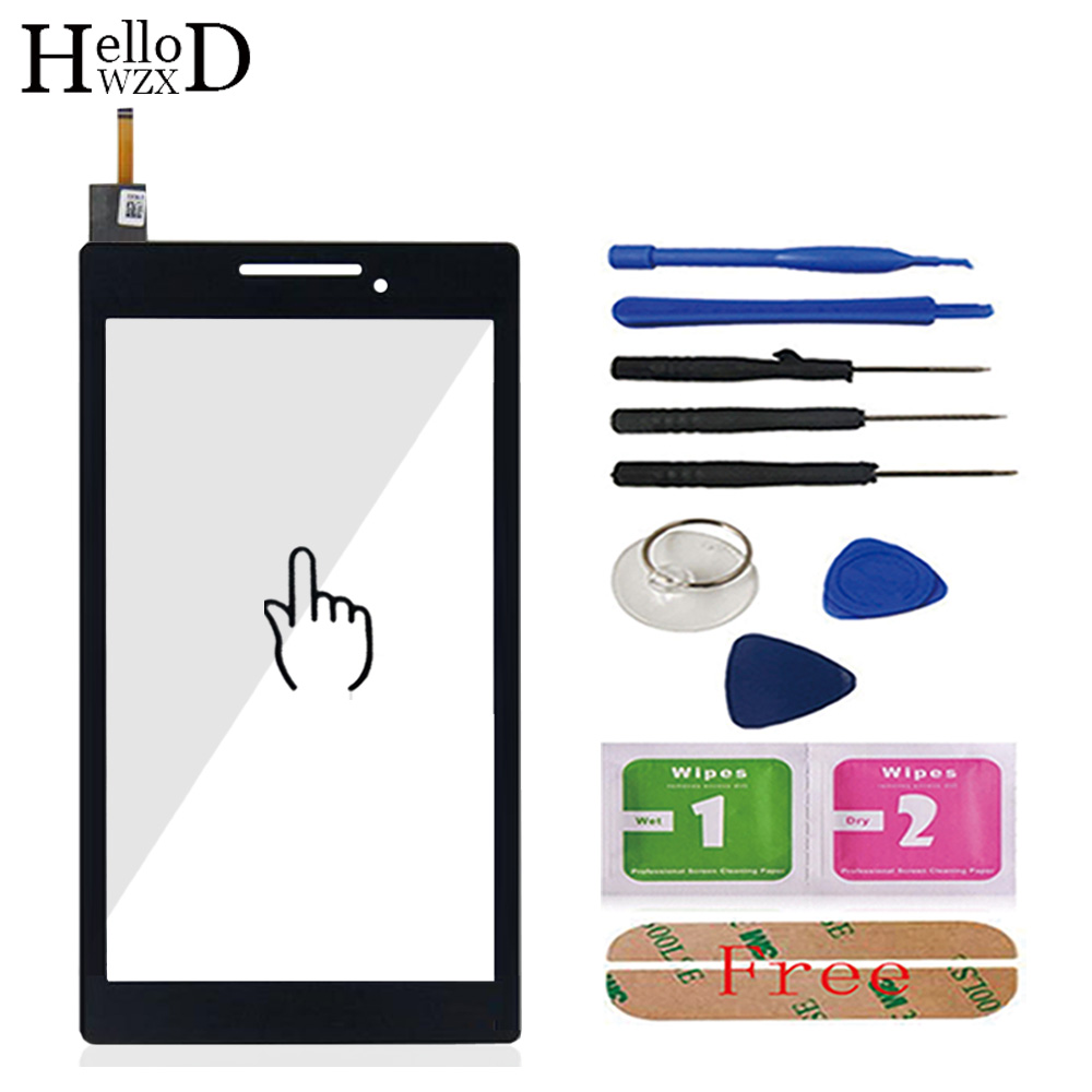 7.0'' Touch Glass Screen Digitizer Panel Front Glass Lens Sensor For Lenovo Tab 2 A7-10 A7-10f A7-10F A7-20 A7-20F Tool Adhesive