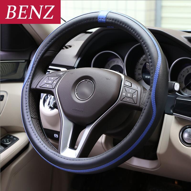 38 cm Voiture Couverture De Volant De voiture Pour Mercedes Benz A A C E Classe GLE GLA W164 W219 W209 W230 w203 W211 W204 SLK CLK REFLEX AMG