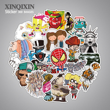 300 pcs mixed single sticker waterproof home decor Doodle laptop motorcycle bike travel case decal toy
