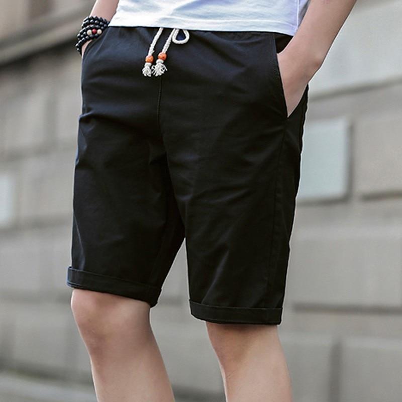 Zomer Katoenen Shorts Heren Modemerk Boardshorts Ademend Heren - Herenkleding - Foto 2