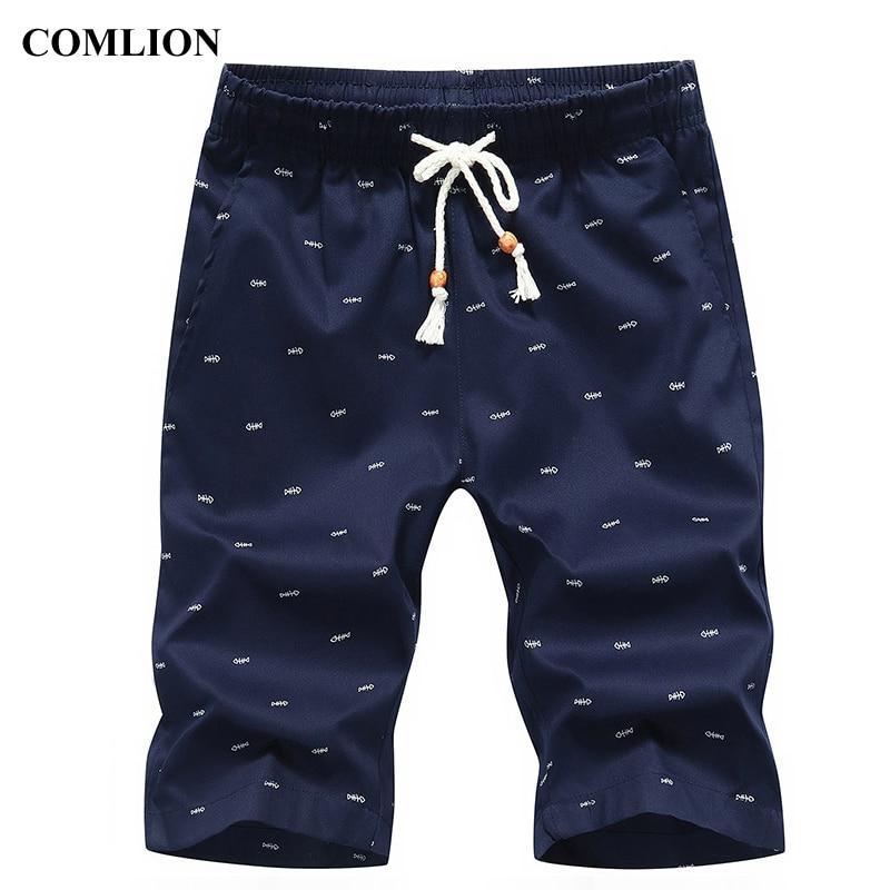Neue Ankunft Männer Shorts Baumwolle Casual Shorts Für Männer Elastische Taille Sommer Strand Shorts Fisch Personalisierte Gedruckt Hohe Qualität 3