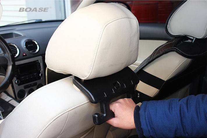 Creative Auto Hook Safety Grab Bar Asiento de automóvil Reposacabezas Suspensión negro