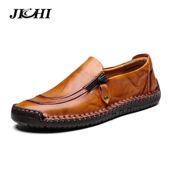 New Big Size 38-48 Men Casual Shoes Loafers Autumn Winter Mens Moccasins Shoes Genuine Leather Men's Flats Shoes