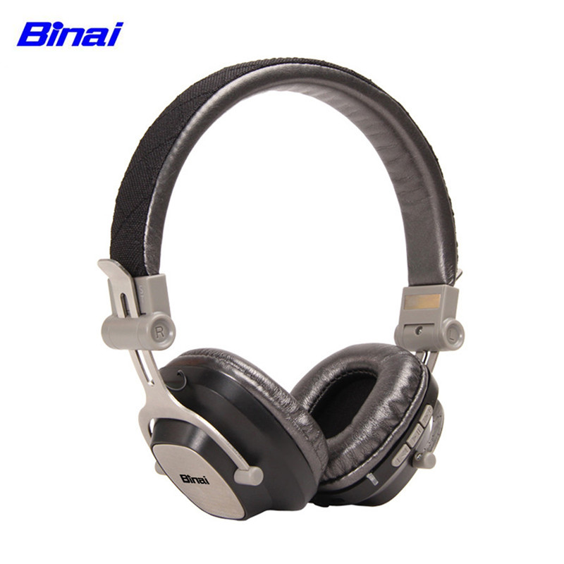 BINAI G88 Wireless Bluetooth Headphone Headset with Mic CSR863 Noise Cancelling Stereo Foldable Allumium Headphones tronsmart encore s6 bluetooth headphones active noise cancelling wireless headphone gamer gaming foldable design headset