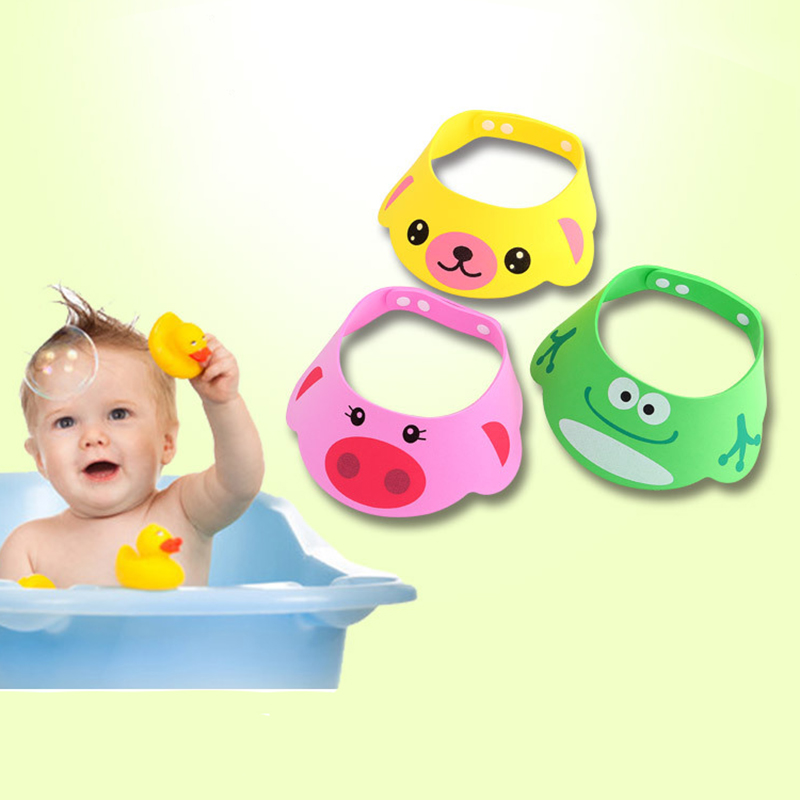 Baby Lovely Adjustable Shampoo Hat New Arrival Toddler Kids Shampoo Shield Visor Bathing Shower Tub Wash Hair Caps For Baby Care