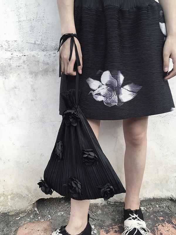 Originally Customized Handbag Folding Design For Originally Created Bags Pleated Bag Free Shipping