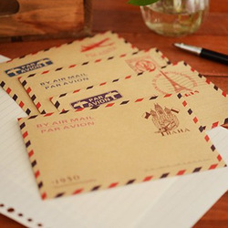 10 pçs/lote mini retro vintage paris papel envelope moda bonito kawaii coreano papelaria para cartões