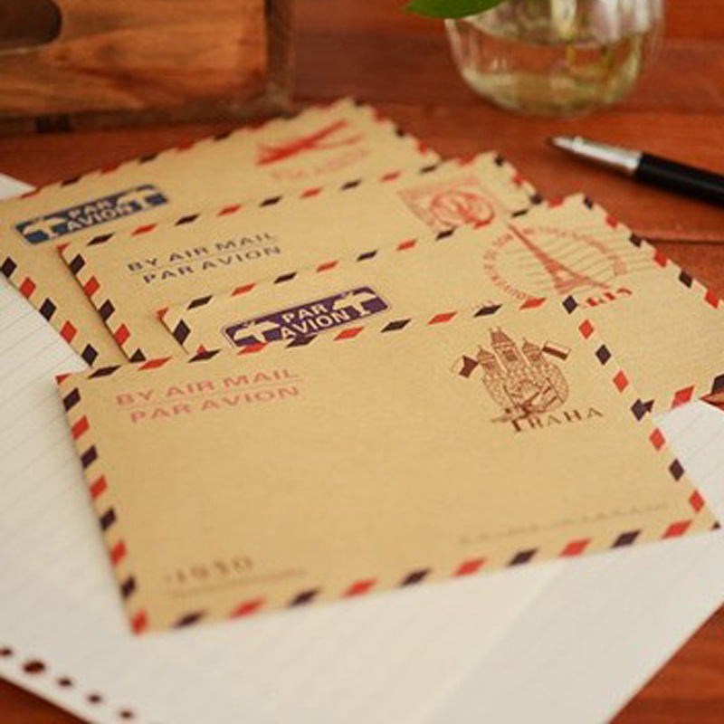 10 Pcs/lot Mini Retro Vintage Paris Paper Envelope Fashion Cute Kawaii Korean Stationery For Cards