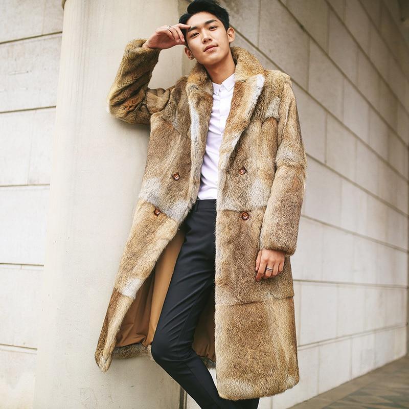 acheter manteau fourure homme