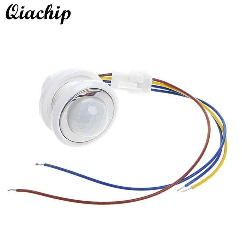 QIACHIP 40mm Mini LED PIR Detector Infrared Motion Sensor Switch Time Delay Adjustable For Smart Home Light LED Lamps Switch Diy 1 pcs x hc sr505 mini infrared pir motion sensor precise infrared detector module new