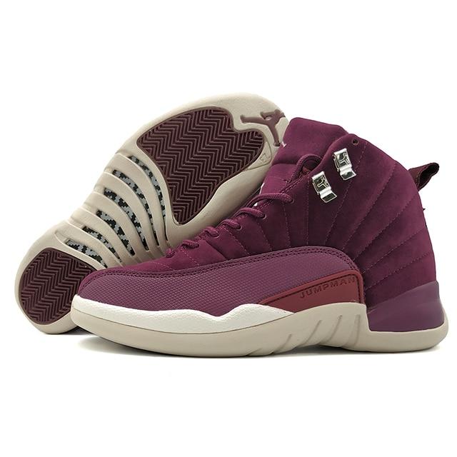 9e09cd13a23c45 AIR US JORDAN 12 XII Men Basketball Shoes Gym Red GS Barons ovo white Bulls  Flu Game Dark grey Sport Sneaker