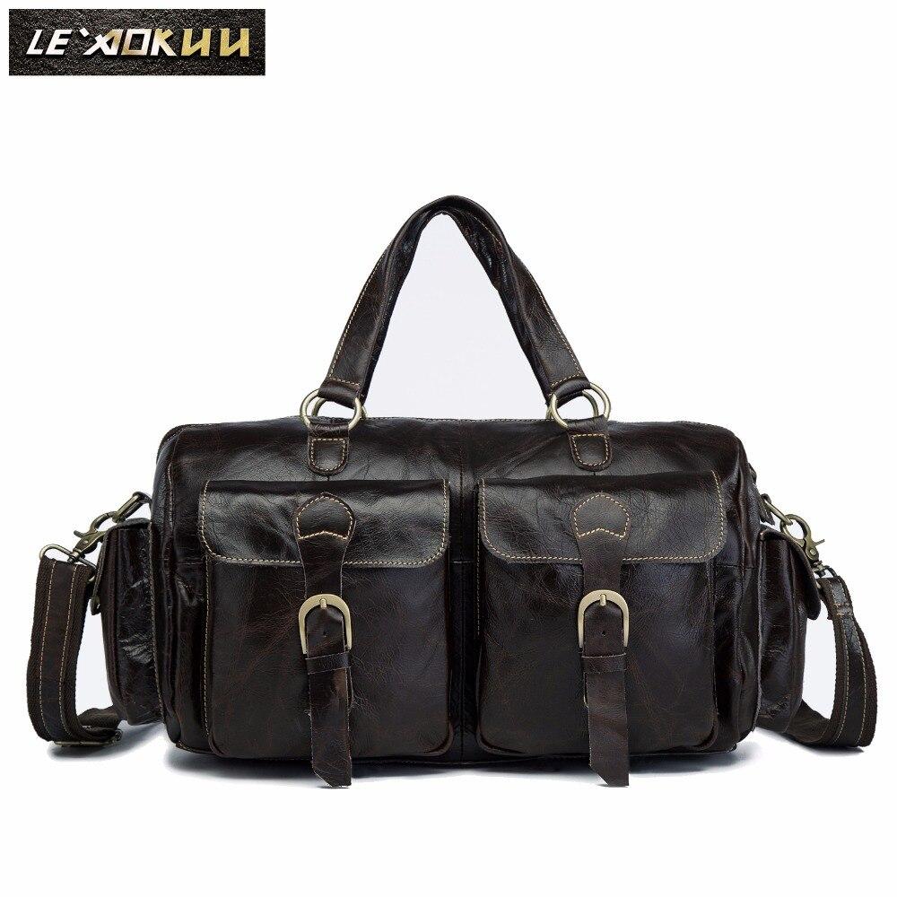 Men Origianl Leather Designer Travel Business Briefcase Large Computer Laptop Bag Attache Portfolio Tote Messenger Bag