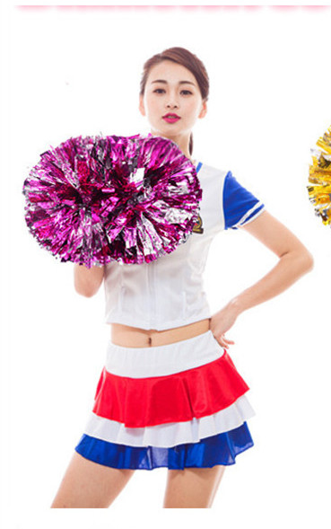 Free Shipping Blue All Star first single paragraph cheerleading pom pon Cheerleading