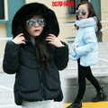 Teenage girls solid warm hooded jacket girl winter jacket teenagers black pink blue clothes