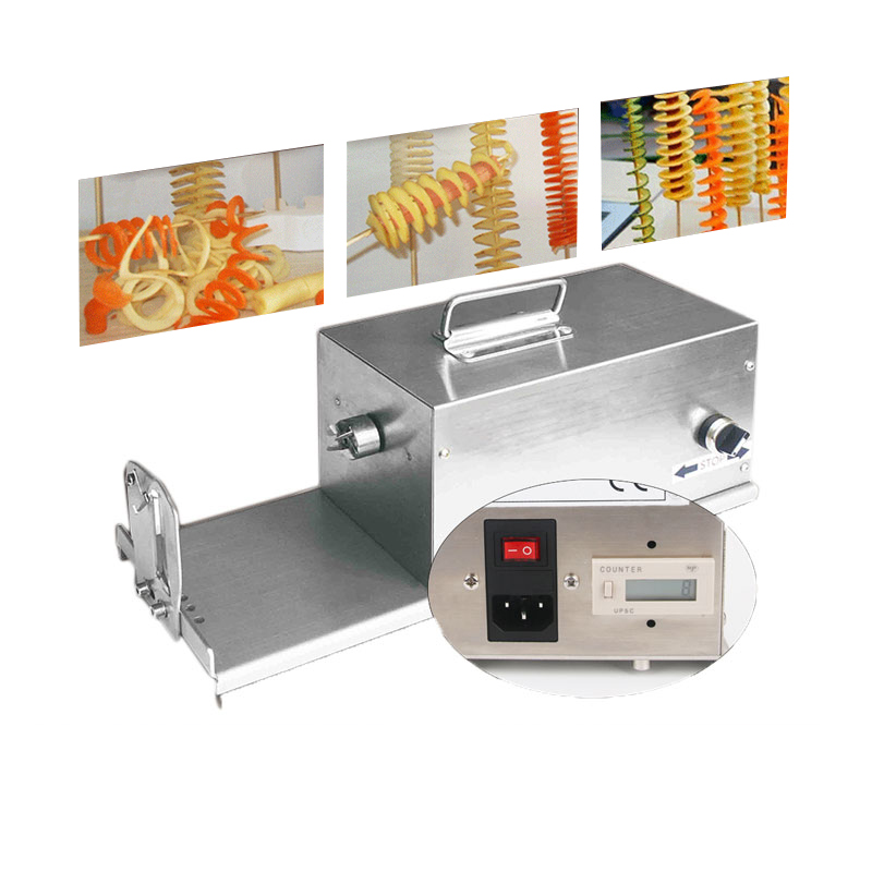 Great Electric Potato Twister Tornado Slicer Machine Automatic Spiral Cutter Vegetable slicer twister machine 110/220v electric chinese yam chip machine twister tornado spiral potato hot dog cutter cutting machine