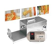 Great Electric Potato Twister Tornado Slicer Machine Automatic Spiral Cutter Vegetable slicer twister machine 110/220v