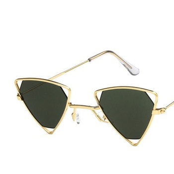 Yoovos 2019 New Punk Sunglasses Women Triangle Oculos New Vintage Glasses Openwork Metal Frame Fashion Sun Glasses Men Okulary 7