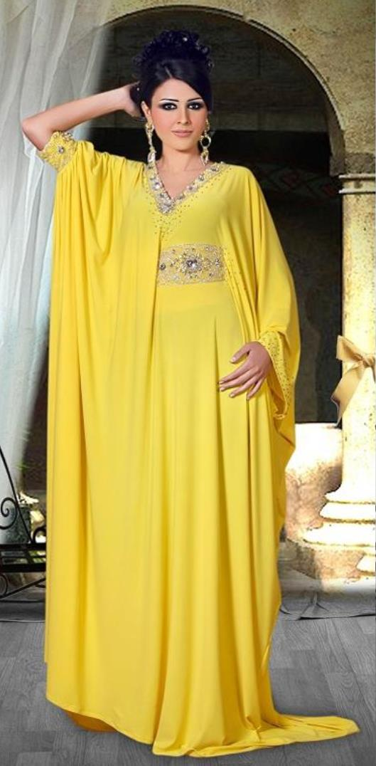 Yellow plus size maxi dress with sleeves