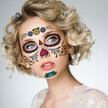 Temporary Tattoo Stickers Long Lasting Full Face Mask Waterproof Disposable Makeup  Tattoos Sticker For Halloween Party H b673f1e3359e