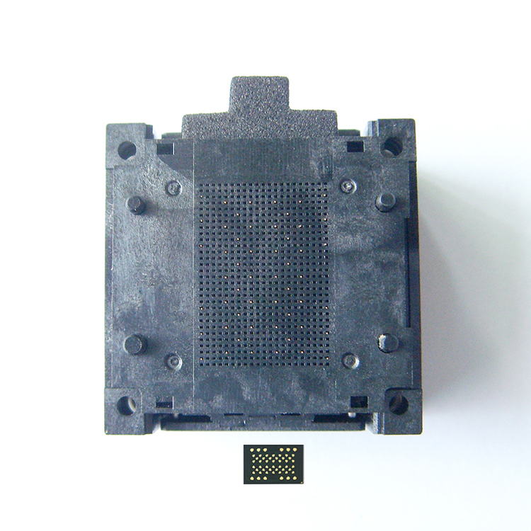 LGA52 Socket Open Frame Structure IC Test Socket Burn in Socket Size 14 18mm Programming Socket LGA Adapter in Connectors from Lights Lighting