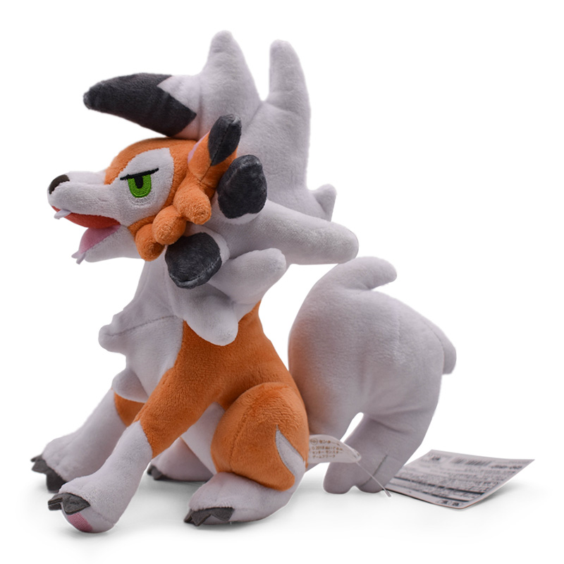 Hot Toys Sittting Lycanroc Dusk Form Rock Peluche 24CM Plush Doll For Best Gifts
