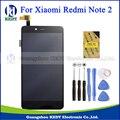 Black display lcd full + touch screen digitador assembléia peças de reposição para xiaomi redmi note 2 hongmi note 2 + ferramentas