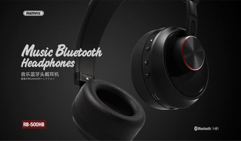 Remax RB-500HB Wireless Bluetooth Headphone 5
