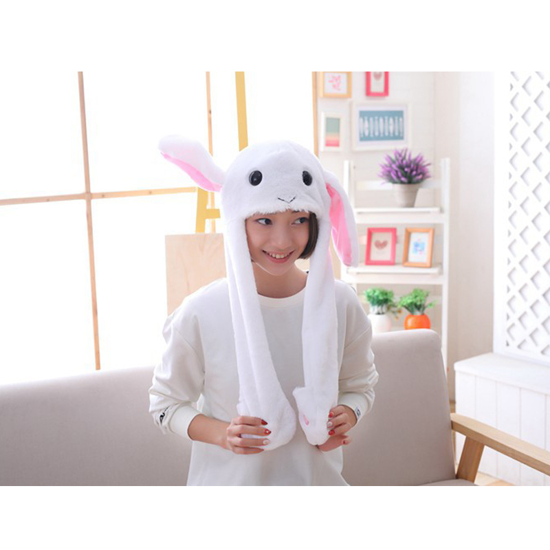 Girl's Accessories Fast Deliver M Mism Girl Rabbit Ears Funny Hat Lovely Moving Ears Hat Women&children Soft Excellent Gift Party Festival Hair Accessories