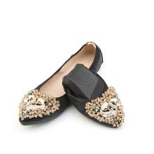 Summer time candy ladies's flat sneakers Girls Ballet Princess Footwear for Informal Rhinestone Boat Footwear Girls Moccasin Flats Plus Measurement