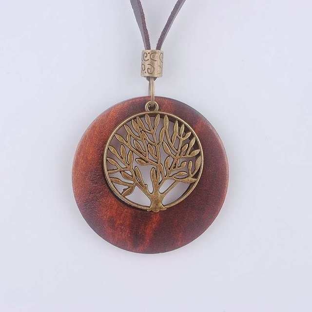 Maxi necklace vintage necklaces pendants women jewelry fashion maxi necklace vintage necklaces pendants women jewelry fashion choker necklace alloy life tree wooden pendant necklace aloadofball Image collections