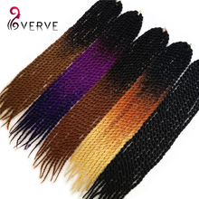 Havana Mambo Twist Crochet Braid Hair 22″ 100grams/pcs ombre jumbo braid hair Synthetic Ombre Kanekalon Braiding Hair Extension