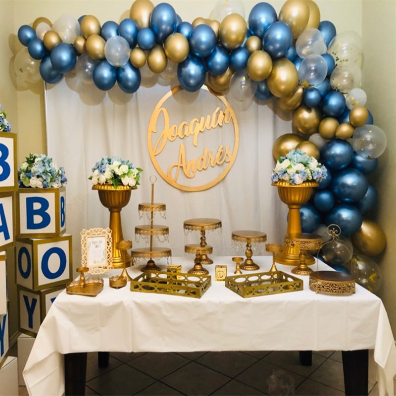 DIY Gold Metallic Arch Balloons 5 12 <font><b>18</b></font> Inch Round Latex Balloon for Children's Birthday Party Wedding Decoration Baby Shower image