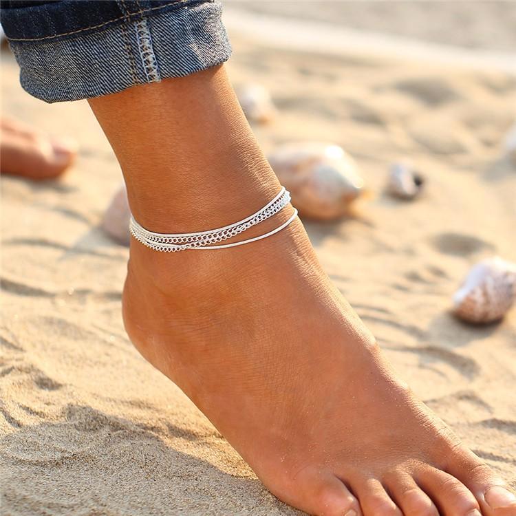 Si las mujeres Tobilleras para las mujeres chaine playa bohemio ... 1ea0bd30fdb