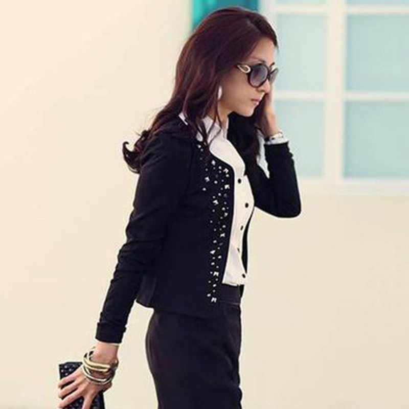 2019 Осенняя корейская мода OL commuter тонкие короткие женские куртки из полиэстера vadim harajuku casaco feminino befree пальто