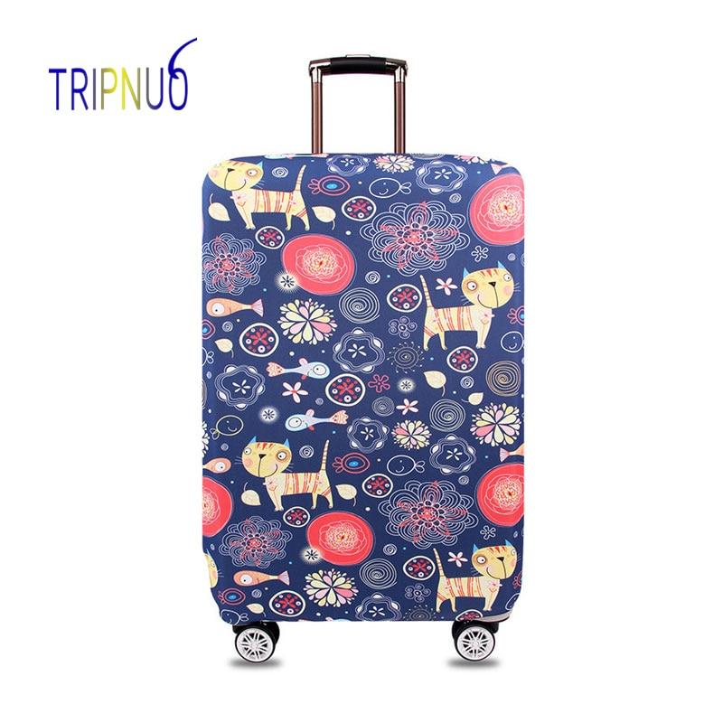 ac863aafb Funda protectora de equipaje de gato de tela elástica TRIPNUO,  Suitable18-32 pulgadas, funda de maleta con ruedas, accesorios de viaje