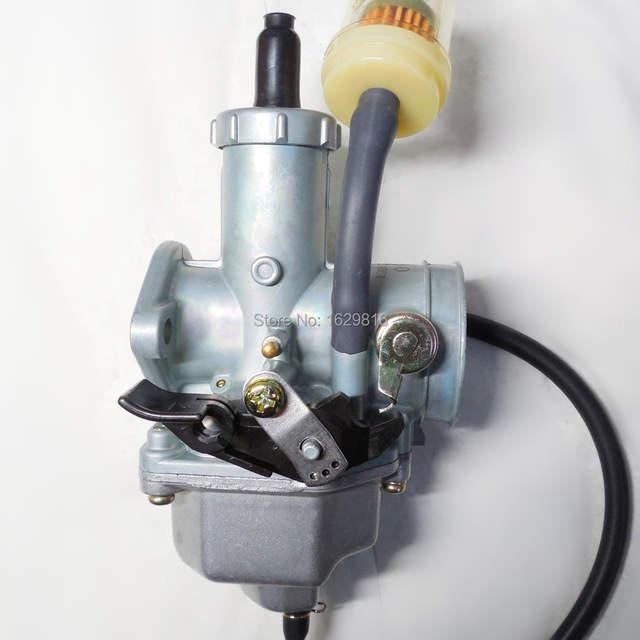 US $29 99 |Keihin throttle manually PZ30 motorcycle carburetor 30mm Carb  200 ~ 250CC ATV Karting single cylinder buggy (free shipping)-in Carburetor