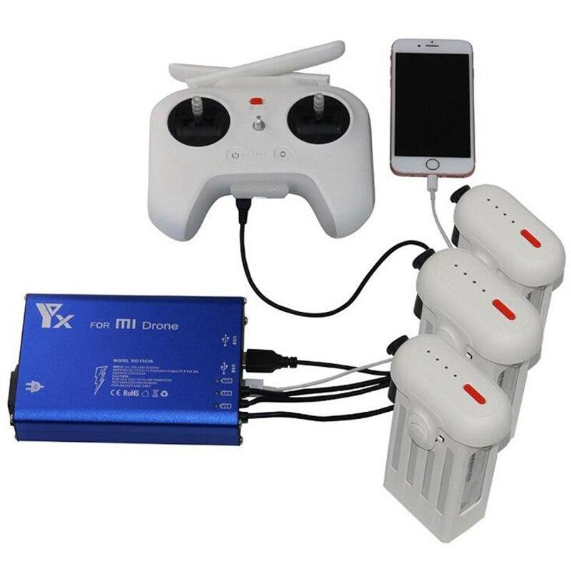5 DANS 1 Xiao mi drone Rc QUADCOPTER 4 k caméra Drone Pièces Batterie Et télécommande Chargeur Hub Pour xiao mi Drone Accessoires
