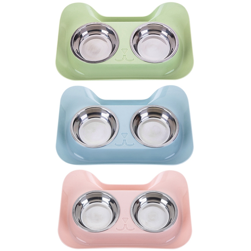 Cat Shape Stainless Steel Bowl Dog Feeder Drinking Bowls for Dogs Cats Pet Food Bowl Comedero Perro 2