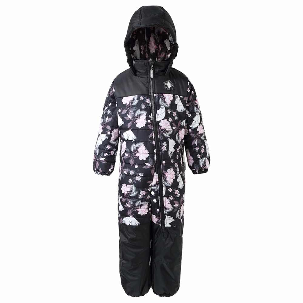 Moomin 2017 monos de invierno para niños pantalones impermeables mono cálido bebé niño cremallera general mosca dibujos animados invierno nieve Pantalones azul