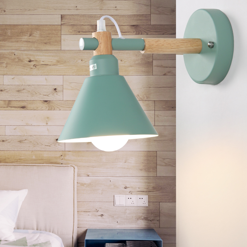 Modern wood metal wall lamp vintage LED indoor lighting Restaurant coffee shop living wall decorate light fixture AC110-265Modern wood metal wall lamp vintage LED indoor lighting Restaurant coffee shop living wall decorate light fixture AC110-265