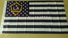 LA Galaxy Los Angeles Galaxy with US Stars Stripes Flag MLS New 3x5ft 150x90cm Polyester Flag Banner,  free shipping