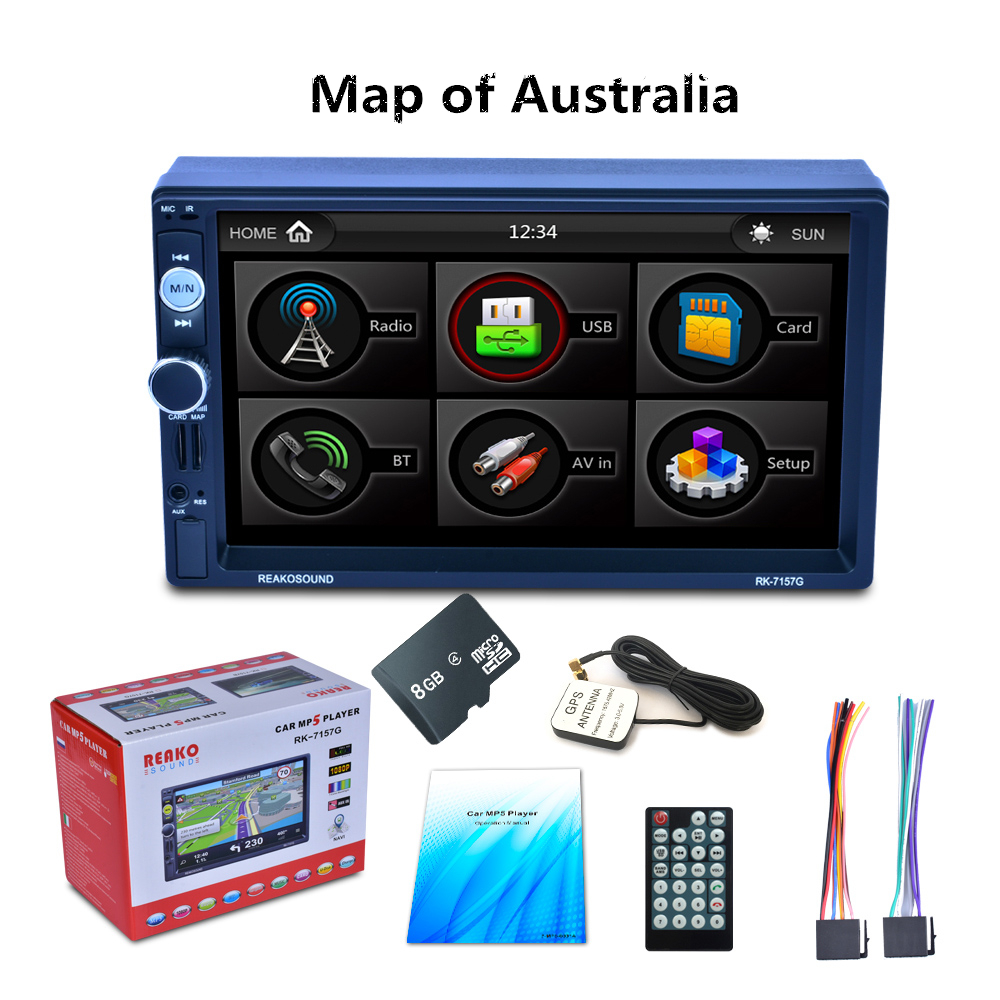 7 2Din HD Car Radio MP5 Player Digital Touch Screen Bluetooth Handsfree USB/TF/FM DVR/Aux Input Support Car Charge GPS new handsfree wireless bluetooth car kit fm transmitter radio support u disk mp3 player phone app control car charger aux out