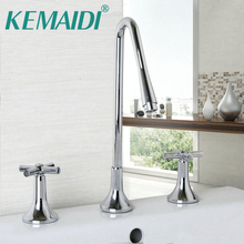 3 piece bathroom faucet.  Ship from US YANKSMART KEMAIDI UK 3 Pieces Tall Bathroom Faucets Sink MixerTap Water Taps w Hole Buy piece bathroom faucet and get free shipping on AliExpress com