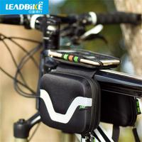 Leadbike Waterproof Bicycle Bag 600D Polyester Outdoor Cycling Mountain Road MTB Bike Frame Front Tube Bag