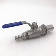 Stainless Steel homebrew Weldless Kettle Valve Kit, 1/2  thread with Hose barb-1/2 and bulkhead assembly